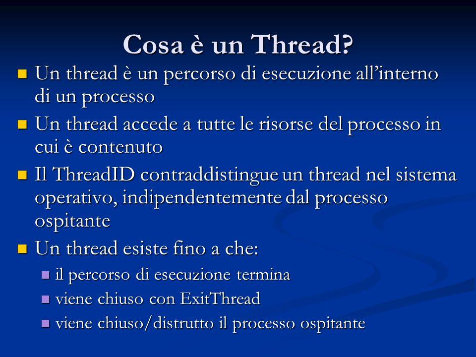 Cosa è un Thread Un thread è un percorso di esecuzione all'interno di un processo.