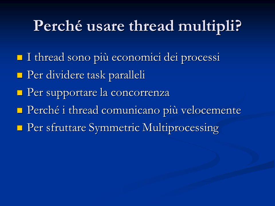 Perché usare thread multipli