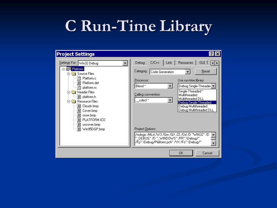 C Run-Time Library