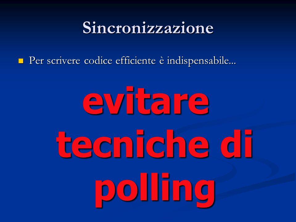 evitare tecniche di polling