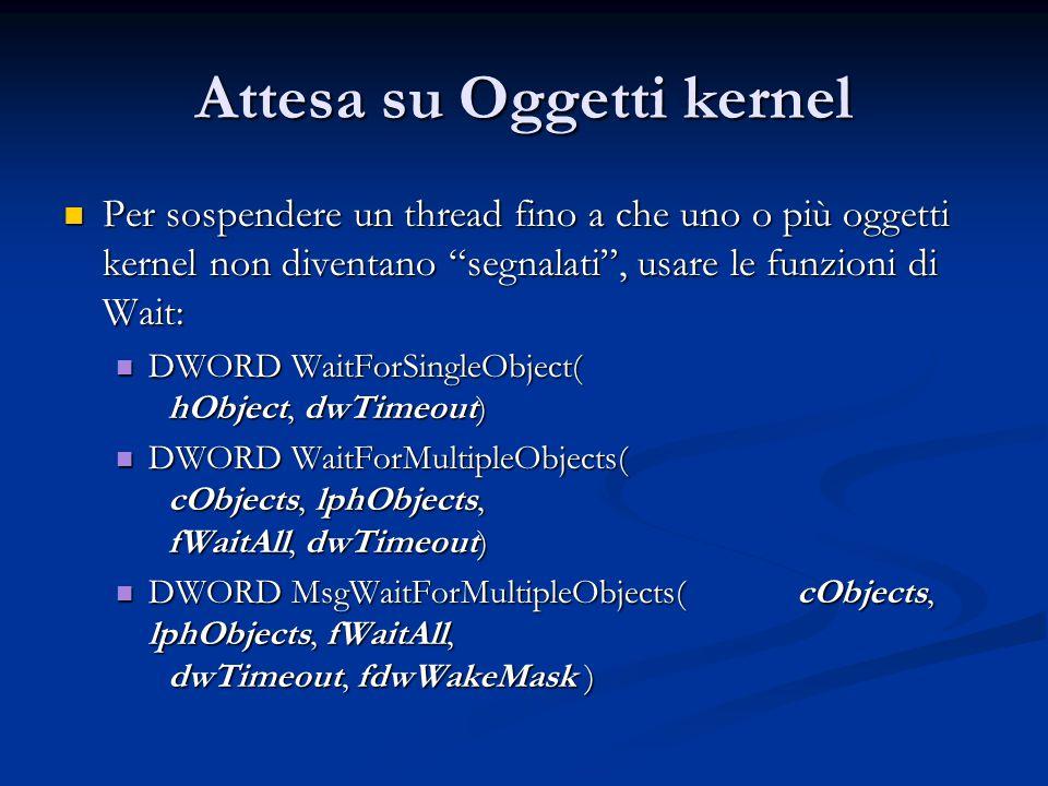 Attesa su Oggetti kernel