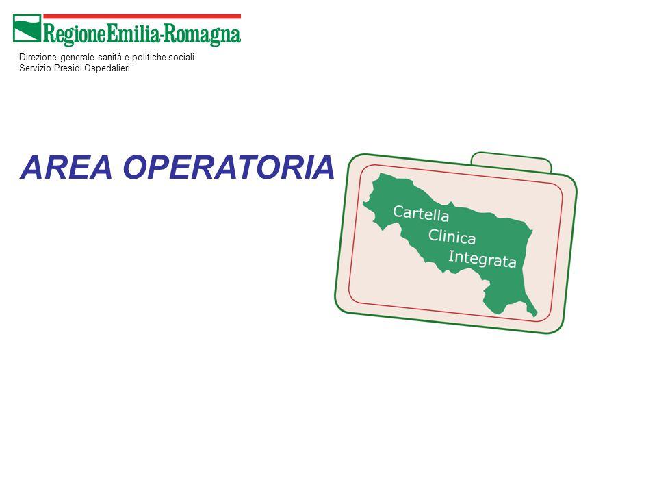 AREA OPERATORIA Direzione generale sanità e politiche sociali