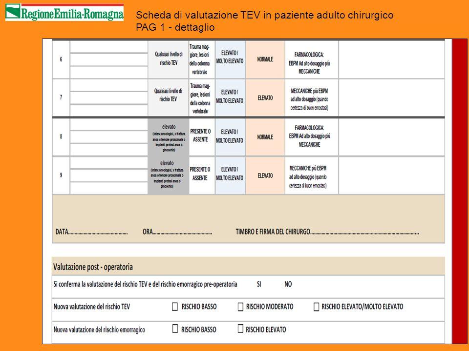 Scheda di valutazione TEV in paziente adulto chirurgico