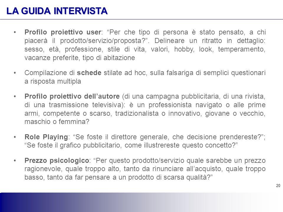 LA GUIDA INTERVISTA