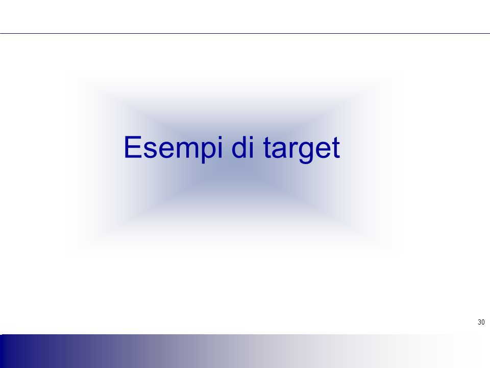 Esempi di target