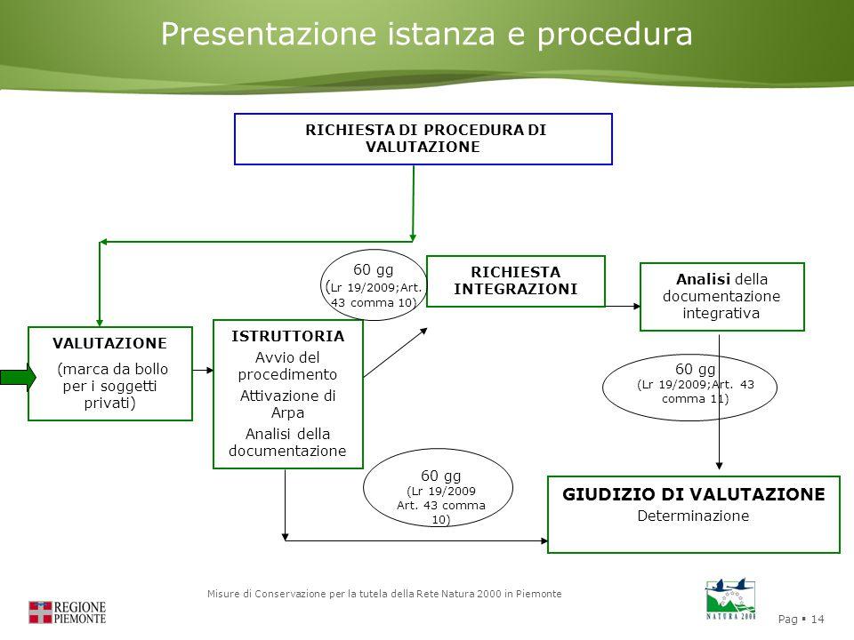 Presentazione istanza e procedura