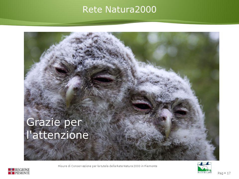 Rete Natura2000 Grazie per l attenzione