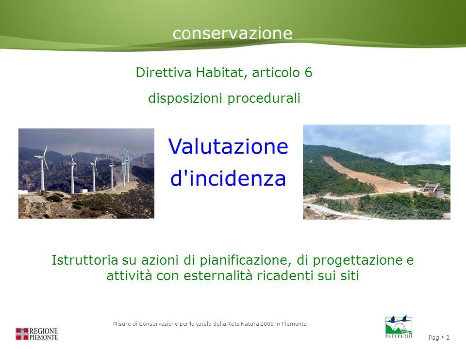 Valutazione d incidenza conservazione Direttiva Habitat, articolo 6