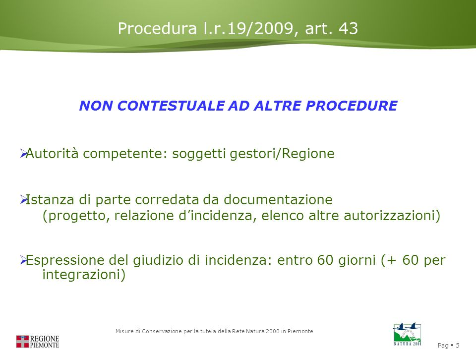 NON CONTESTUALE AD ALTRE PROCEDURE