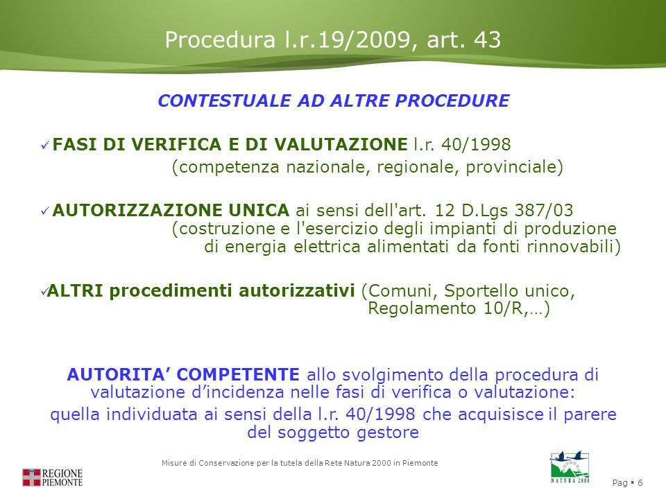 CONTESTUALE AD ALTRE PROCEDURE