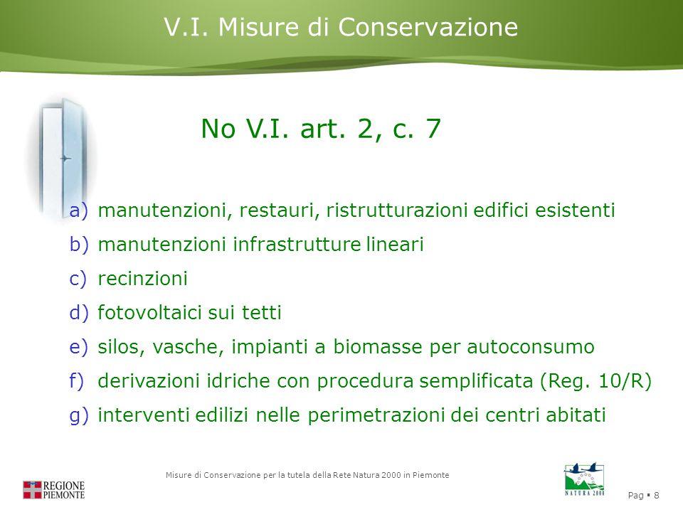 V.I. Misure di Conservazione