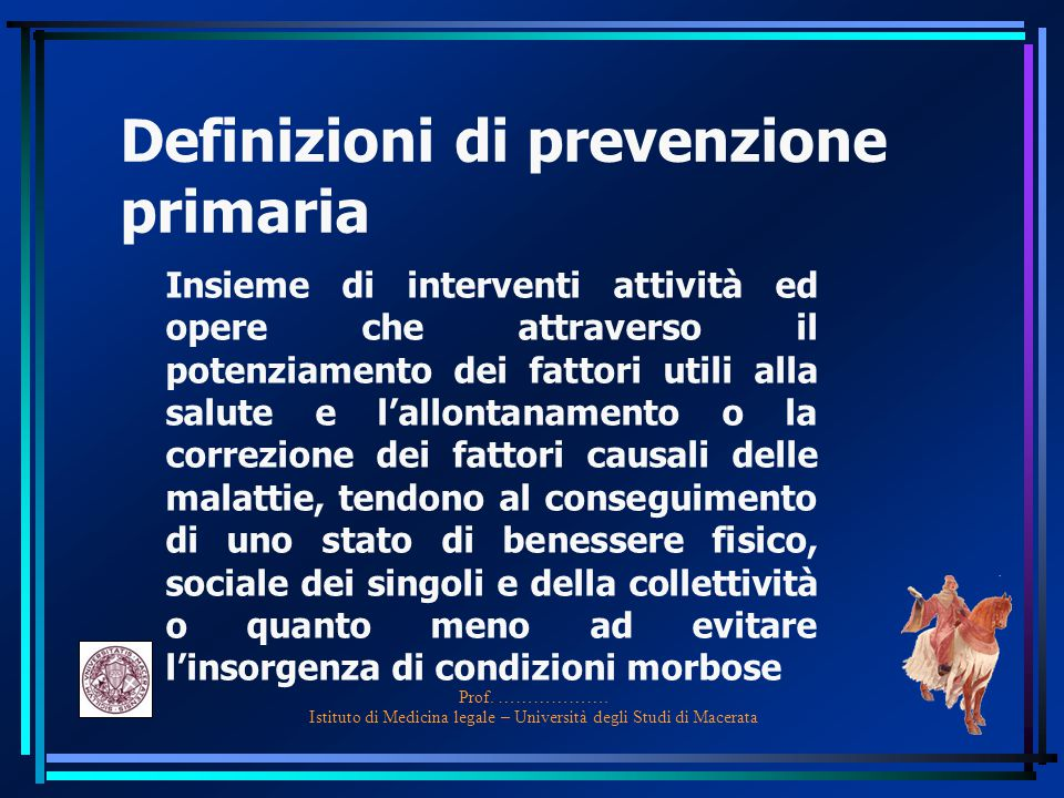 Definizioni di prevenzione primaria