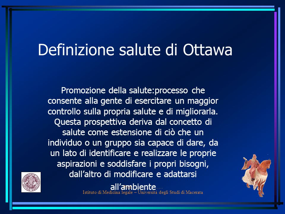 Definizione salute di Ottawa
