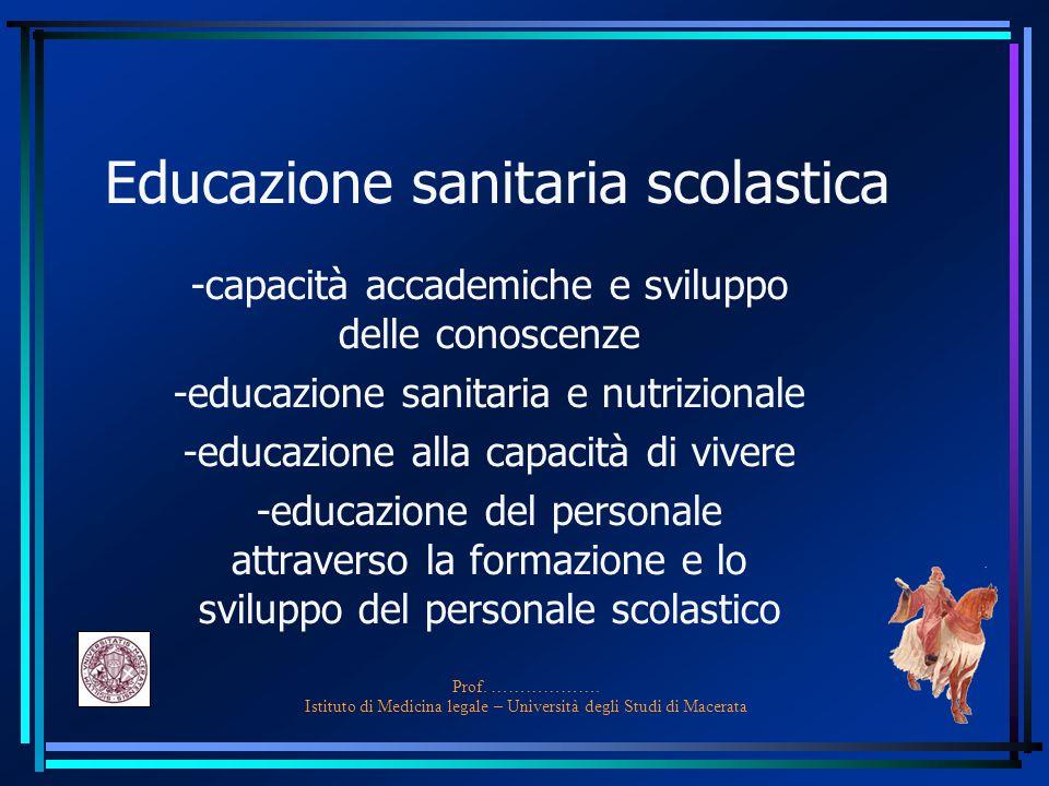 Educazione sanitaria scolastica