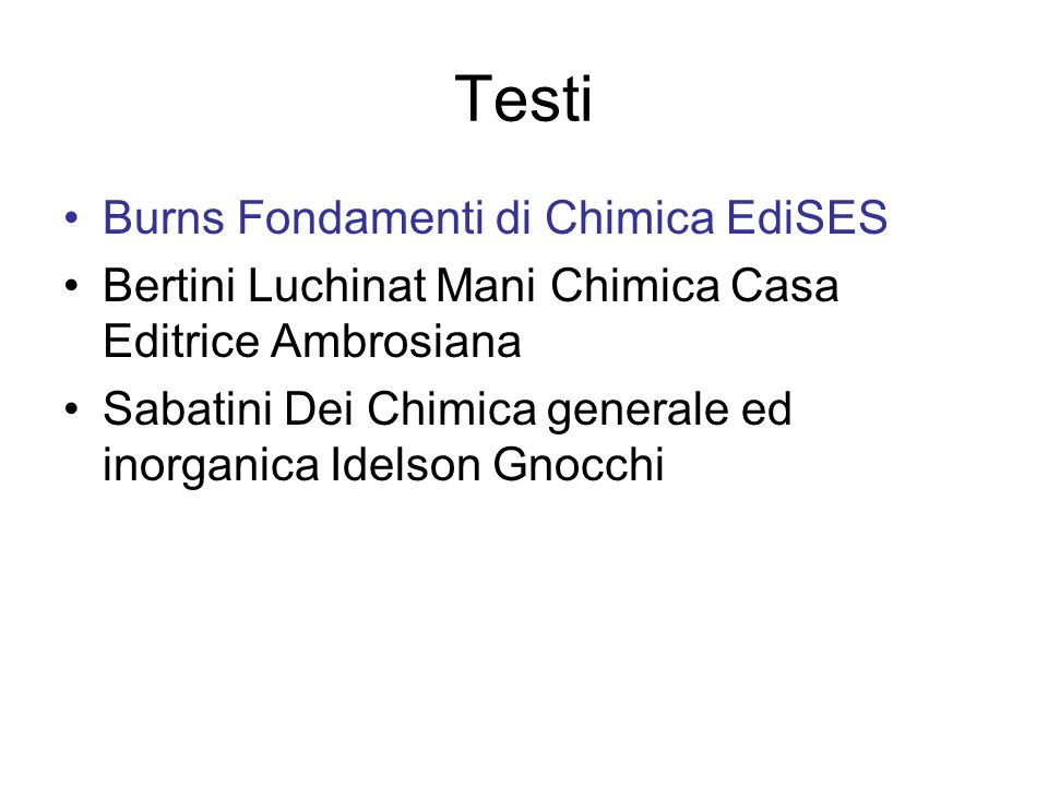 Testi Burns Fondamenti di Chimica EdiSES