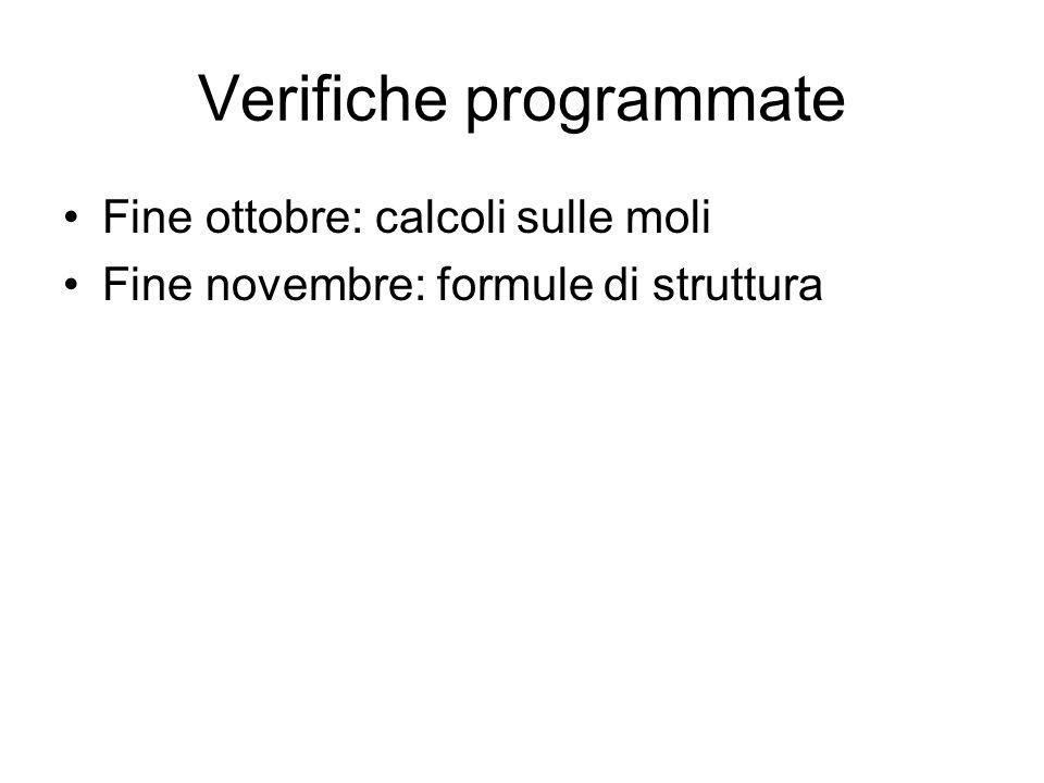 Verifiche programmate