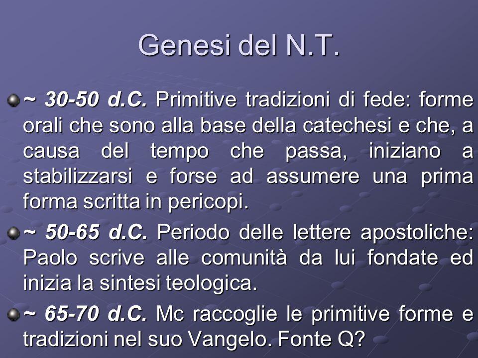 Genesi del N.T.
