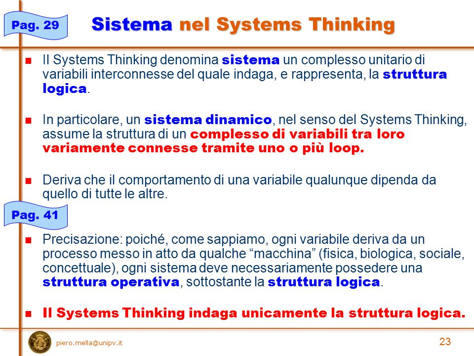 Sistema nel Systems Thinking