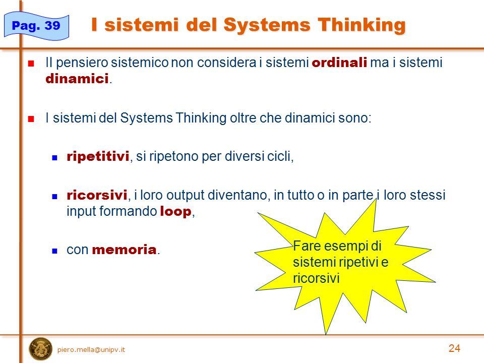 I sistemi del Systems Thinking