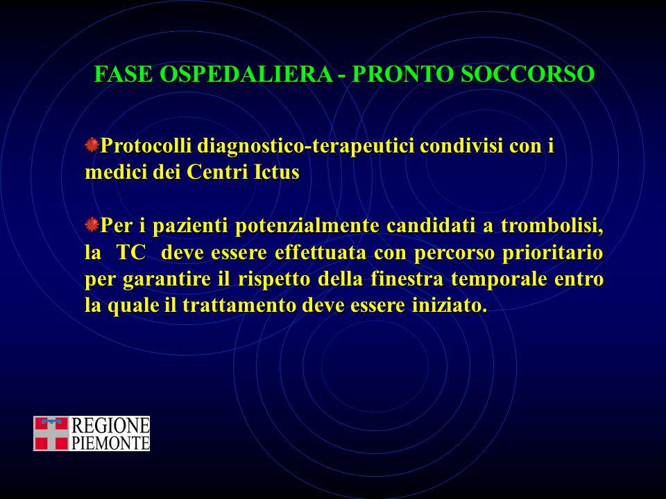 FASE OSPEDALIERA - PRONTO SOCCORSO