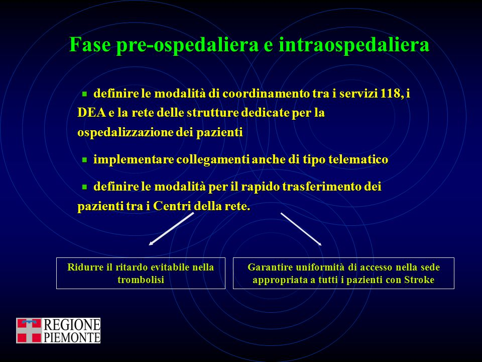 Fase pre-ospedaliera e intraospedaliera