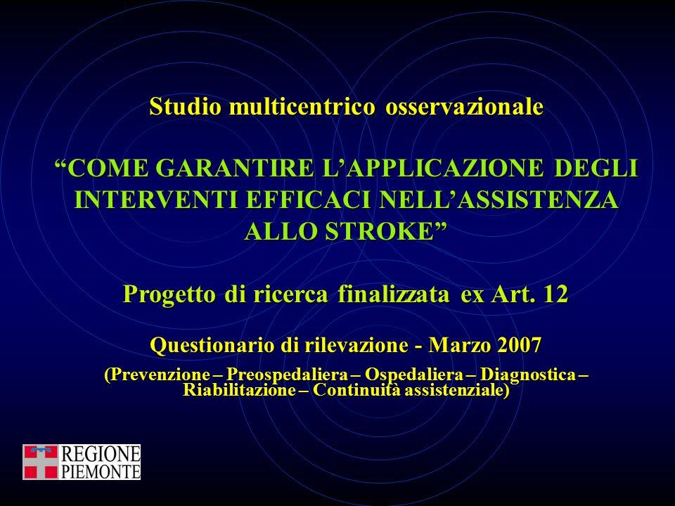 Studio multicentrico osservazionale