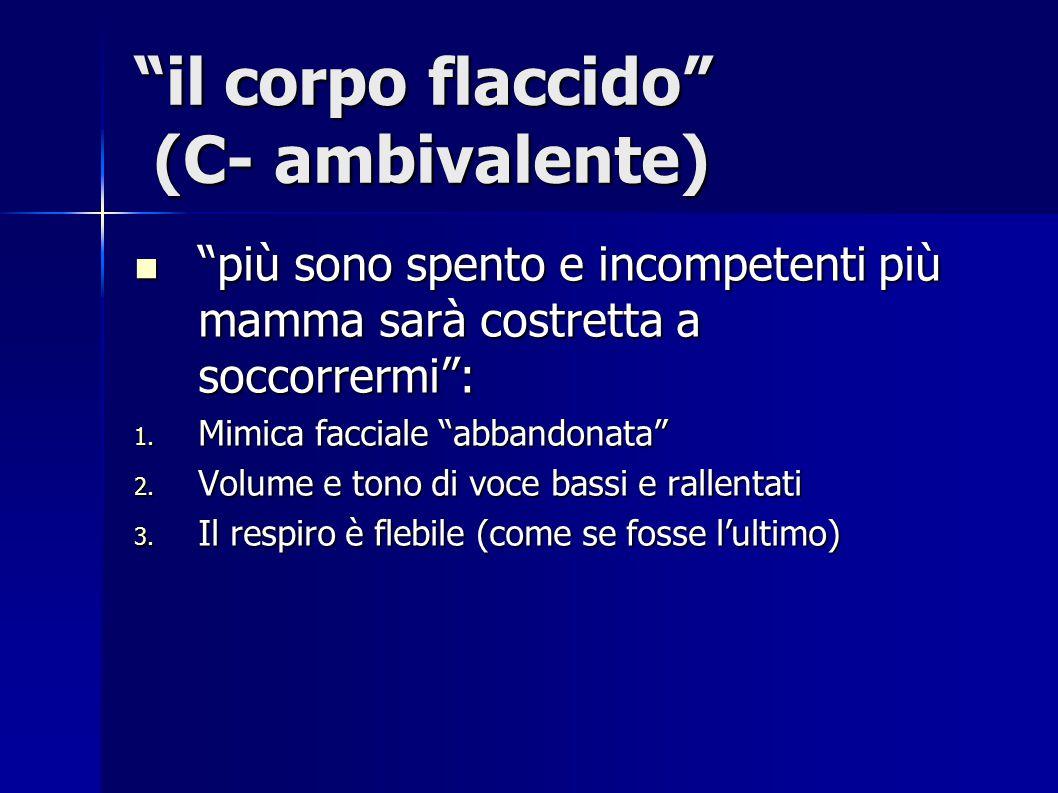 il corpo flaccido (C- ambivalente)