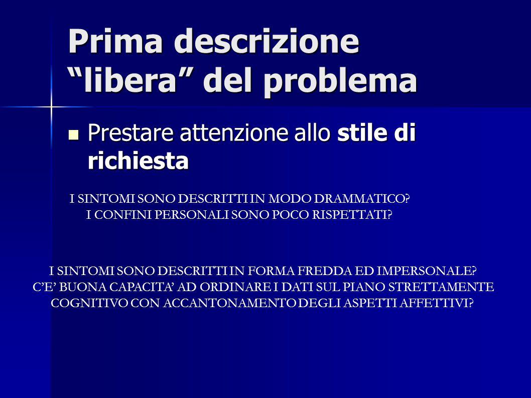 Prima descrizione libera del problema