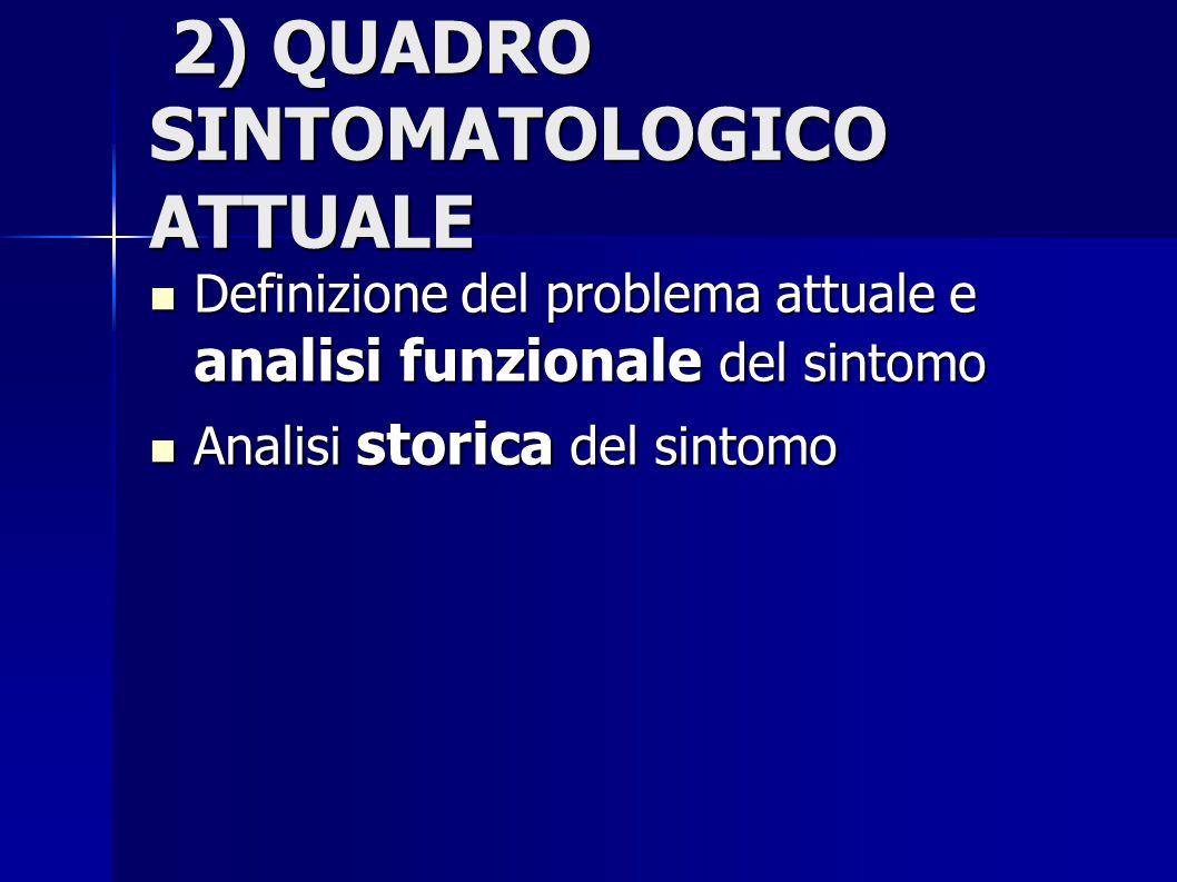 2) QUADRO SINTOMATOLOGICO ATTUALE