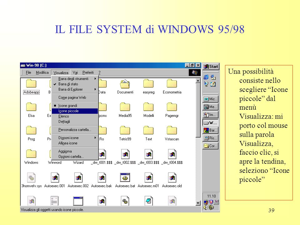 IL FILE SYSTEM di WINDOWS 95/98