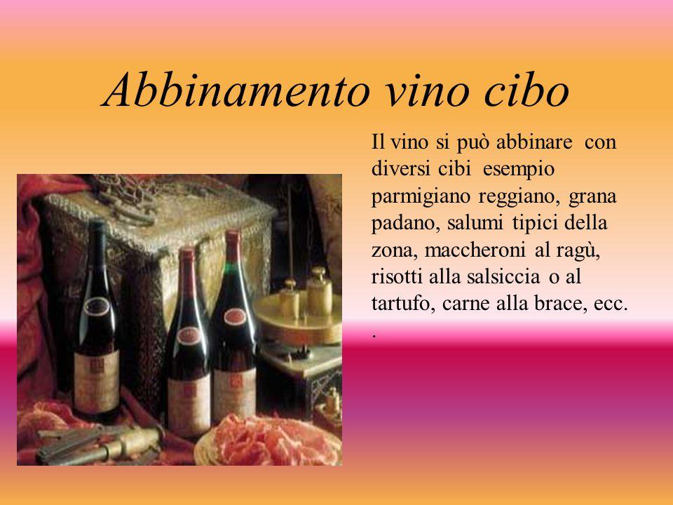 Abbinamento vino cibo