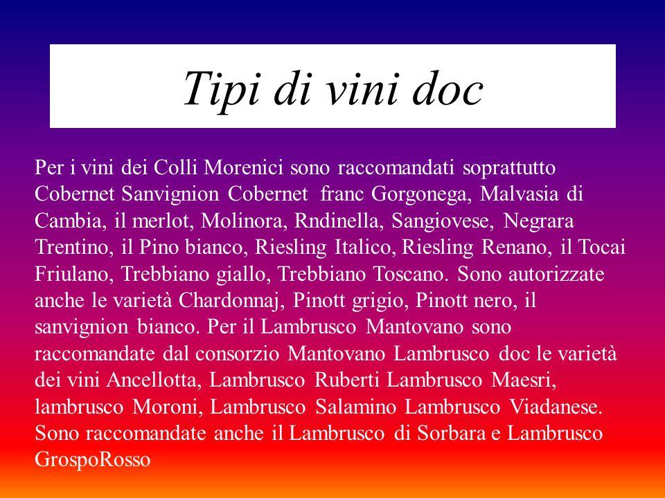 Tipi di vini doc