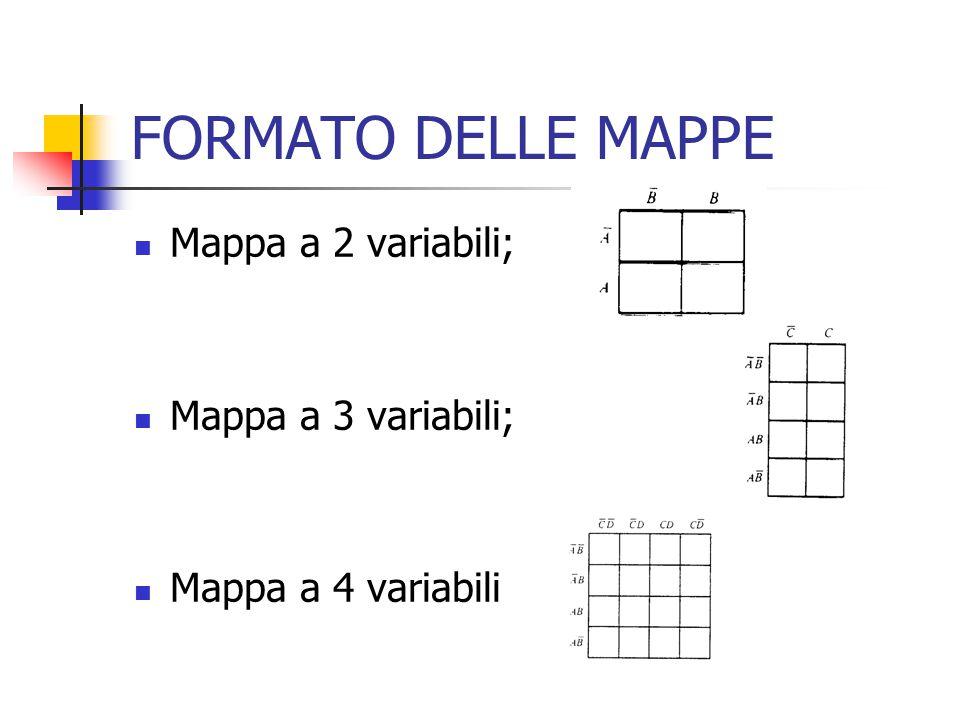 FORMATO DELLE MAPPE Mappa a 2 variabili; Mappa a 3 variabili;
