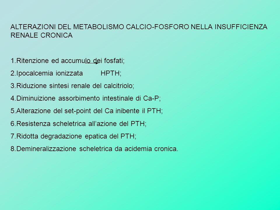 ALTERAZIONI DEL METABOLISMO CALCIO-FOSFORO NELLA INSUFFICIENZA RENALE CRONICA