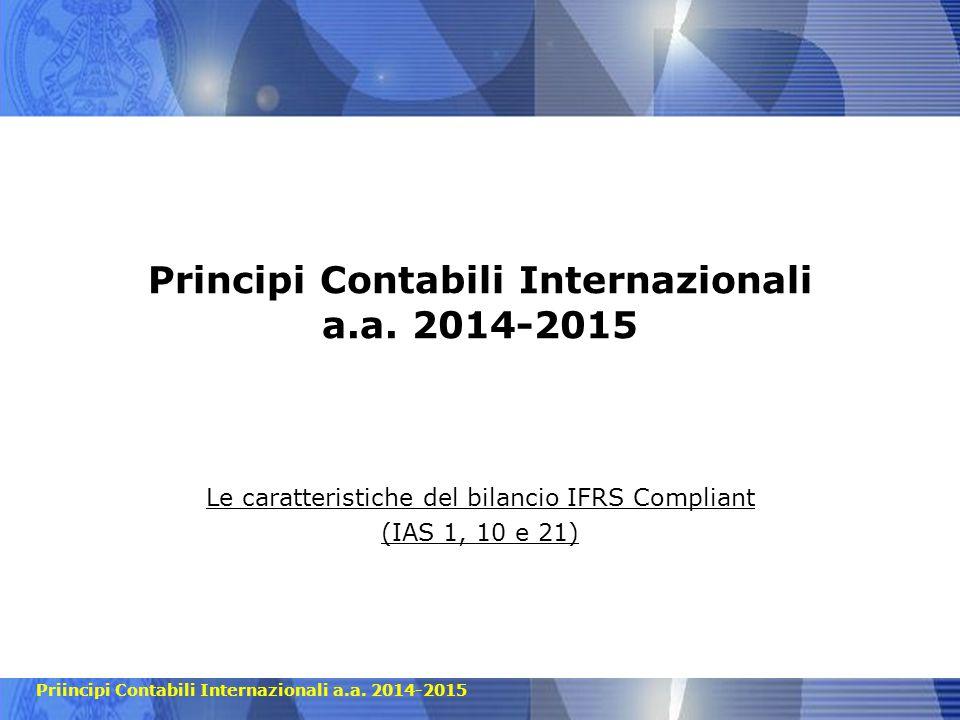 Principi Contabili Internazionali a.a. 2014-2015