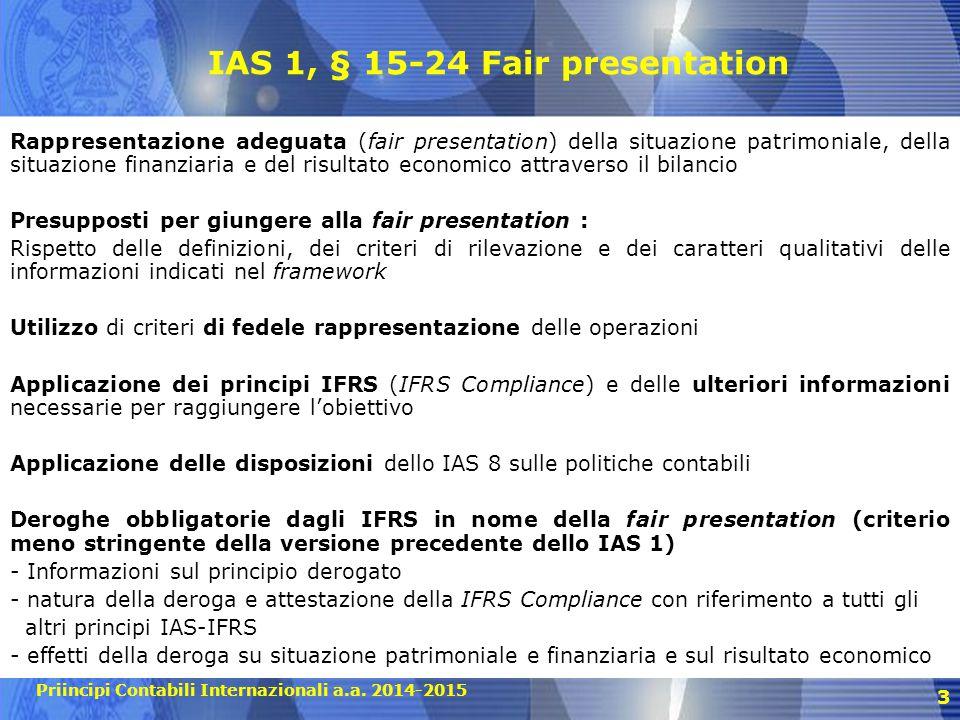 IAS 1, § 15-24 Fair presentation