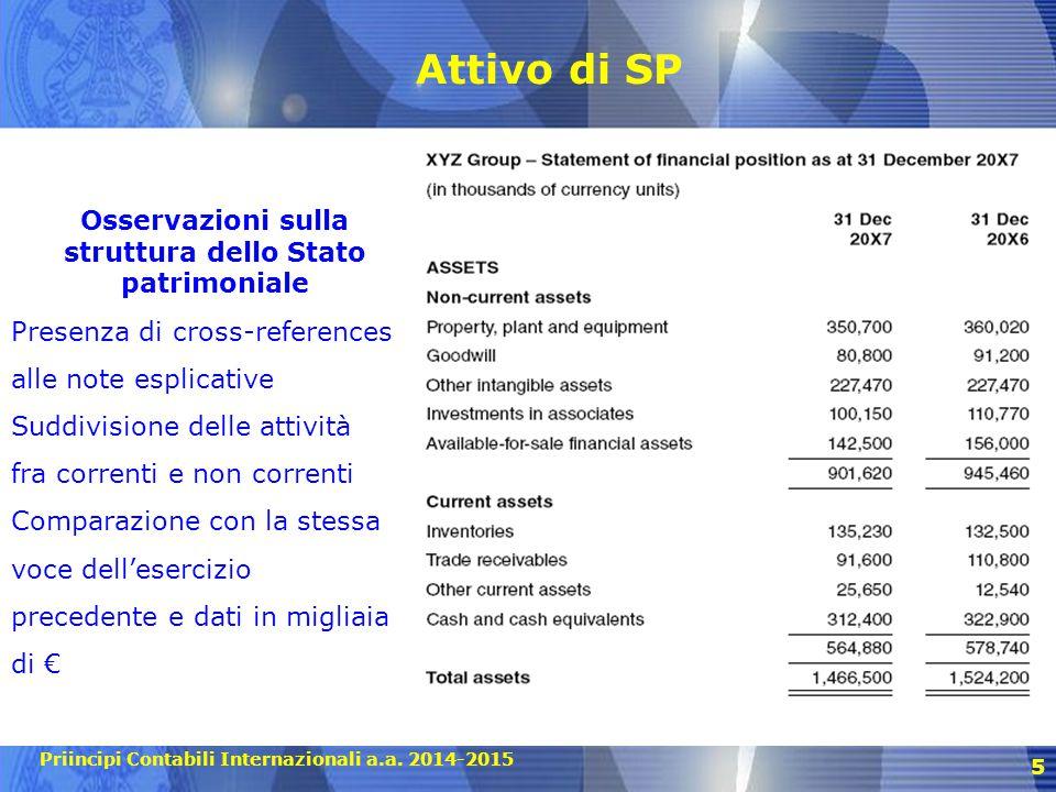 Osservazioni sulla struttura dello Stato patrimoniale