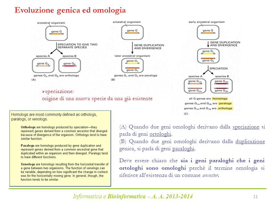 Evoluzione genica ed omologia