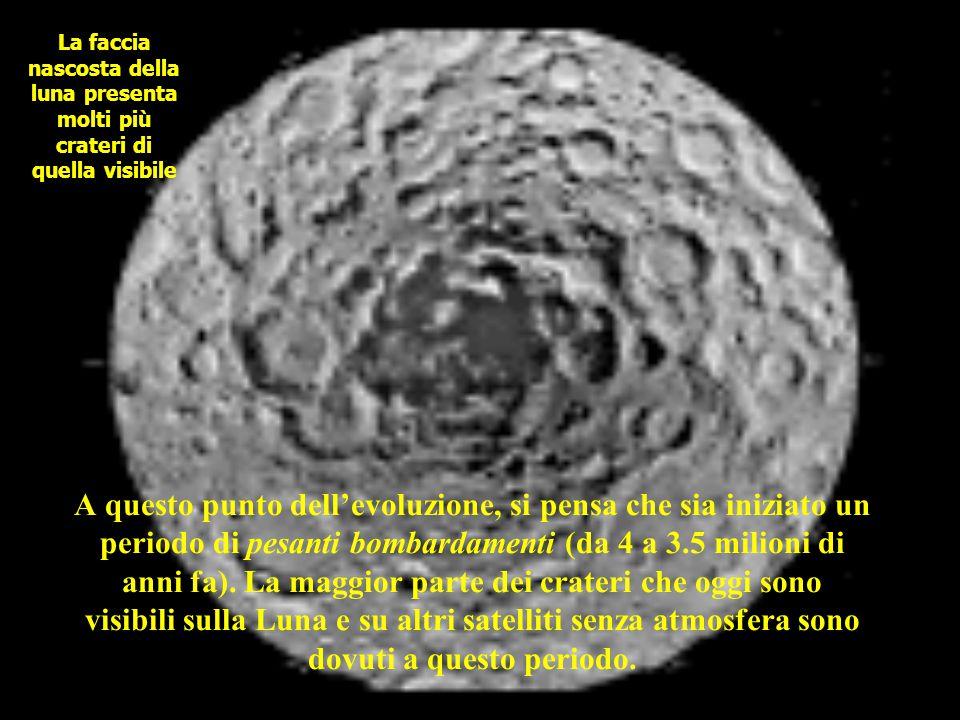 La faccia nascosta della luna presenta molti più crateri di quella visibile
