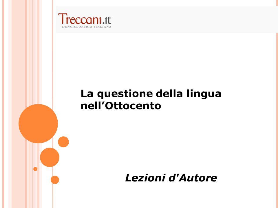 La questione della lingua nell'Ottocento