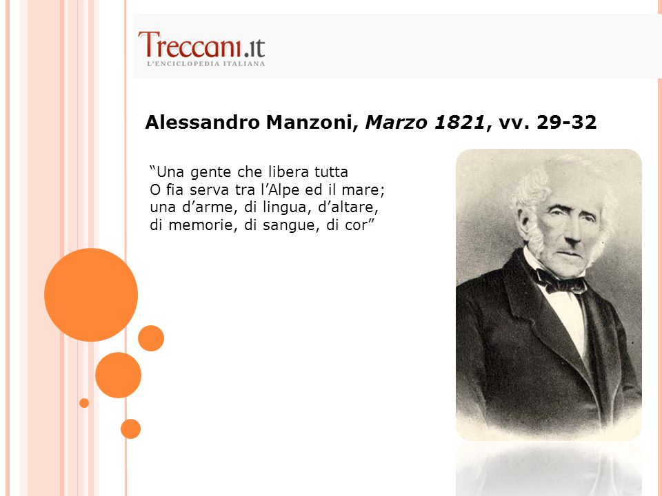 Alessandro Manzoni, Marzo 1821, vv. 29-32