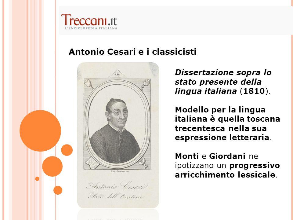 Antonio Cesari e i classicisti