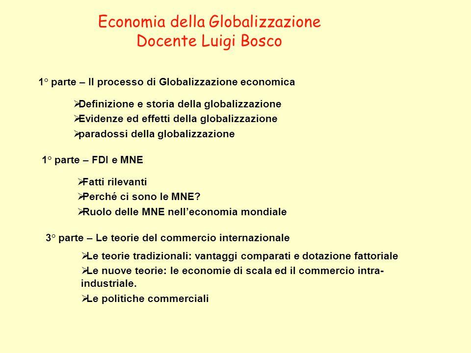 Economia della Globalizzazione
