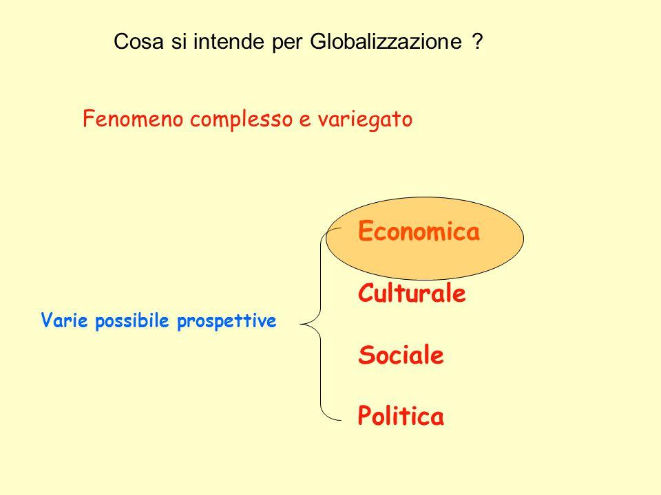 Economica Culturale Sociale Politica