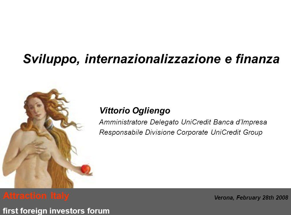 Sviluppo, internazionalizzazione e finanza