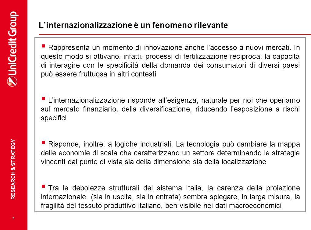 L'internazionalizzazione è un fenomeno rilevante