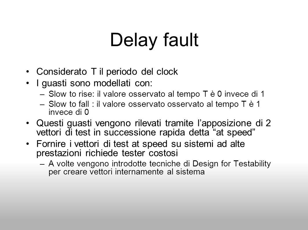 Delay fault Considerato T il periodo del clock