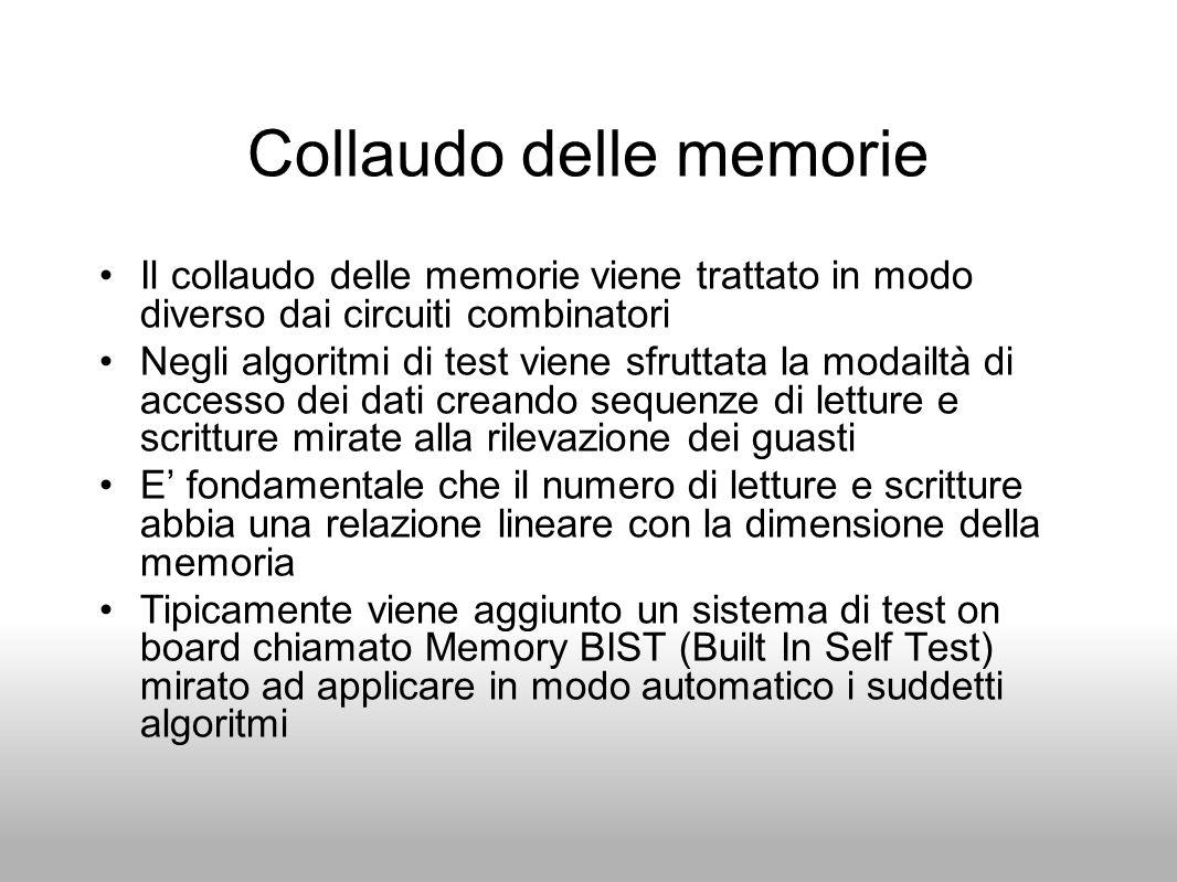 Collaudo delle memorie