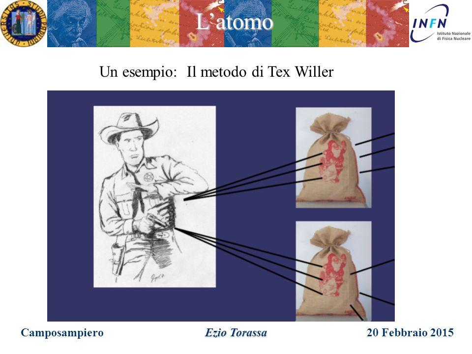 Un esempio: Il metodo di Tex Willer