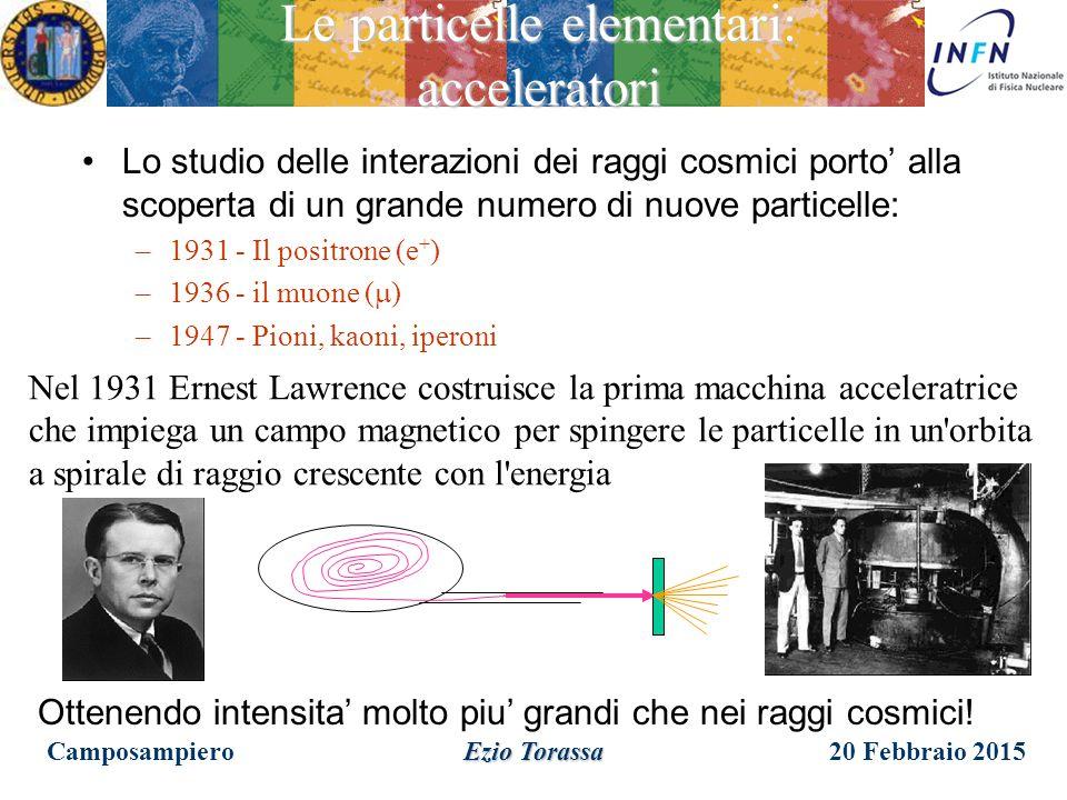 Le particelle elementari: acceleratori
